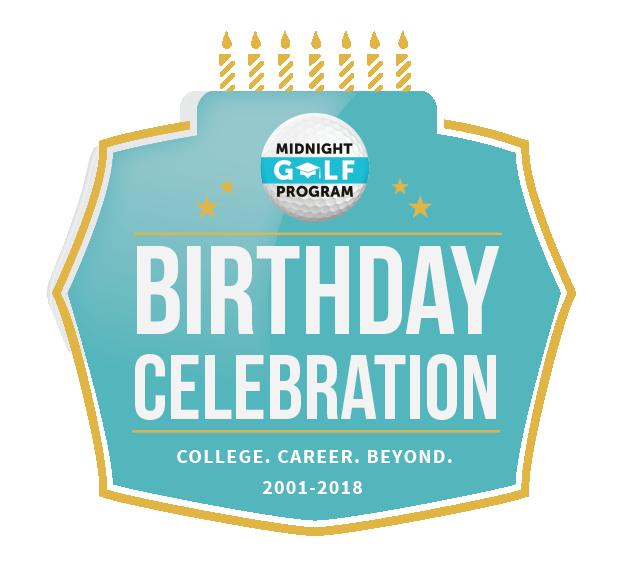 birthday celebration sponsors midnight golf program