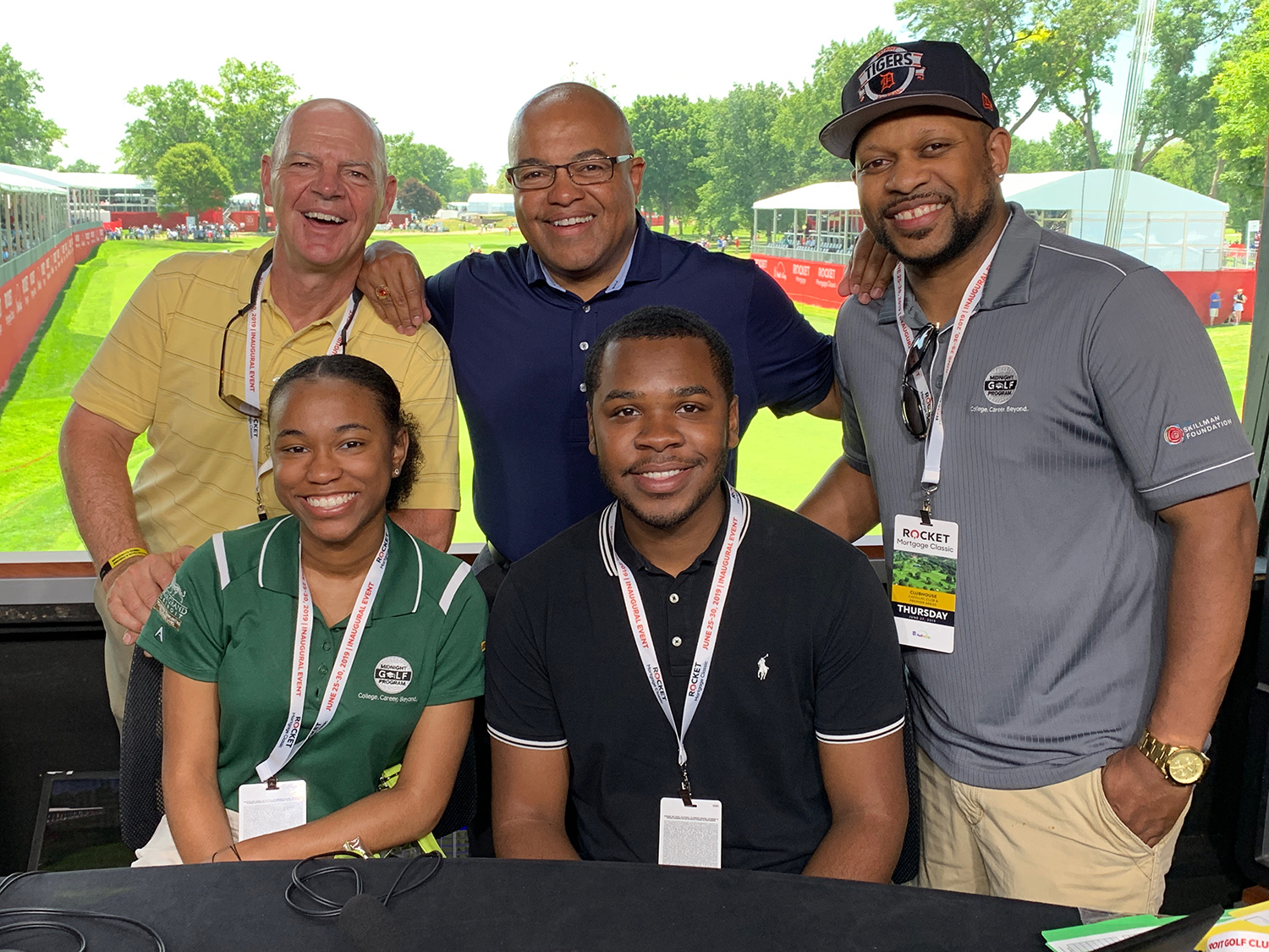 Aspiring sports journalists and MGP alumni, Janay Pope and Zuri Cheathem, had a chance to meet broadcasting legend and NBC Sports' Mike Tirico at the Rocket Mortgage Classic. Thanks to Mike for inspiring our students and to Russ Chavey for making this opportunity possible!