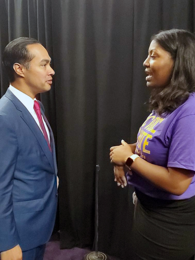 Keturah Davis and Julian Castro